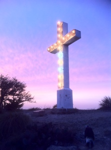 Cross Mtn lighted
