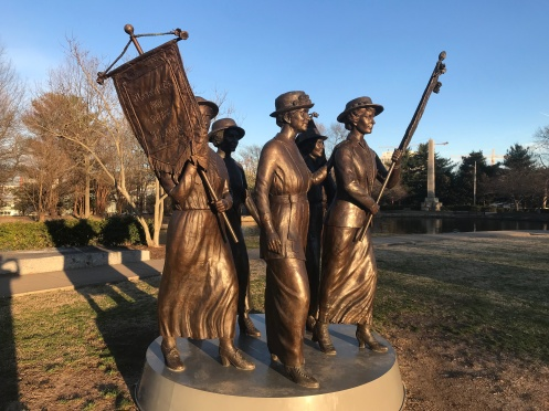 Suffragettes pictured in Nashville, Kentucky
